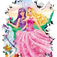 STICKER DINDING 5D 015 BARBIE / WALLSTICKER / WALLPAPER