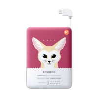 Samsung Animal Merah Powerbank - 8.400 mAh - Fennec Fox