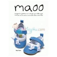 Maoo Baby Shoes Vivian Morris Size L (13cm) Color Blue White Age 9M -
