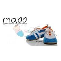 Maoo Baby Shoes Paul Hanson Size M (11.5) Color White Blue Age 6M+