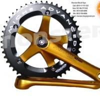 Crank Set Miche Primato 165mm BCD 144 48T Gold-Black