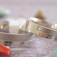 Jual 1 Pasang Cincin + Kotak Cincin Couple High Quality Kode CC-0011 Murah