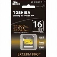 Toshiba SD Card Exceria Pro UHS-II 16GB (Read : 260MB / S; Write : 240MB