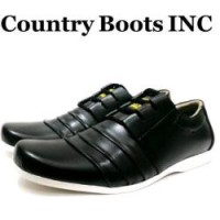 Country Boots Casual Black 01 Original Sepatu Casual Pria Bagus Murah