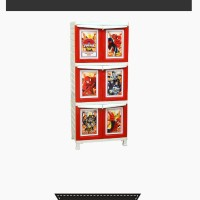 harga Lemari Plastik Napolly Spiderman 6 pintu Tokopedia.com