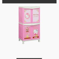 Lemari Plastik Napolly Hello Kitty 4 Pintu