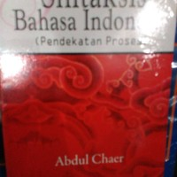 Sintaksis bahasa indonesia by abdul chaer