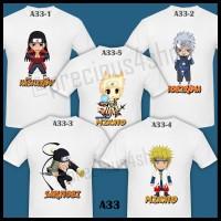 Ninja NARUTO Previous Hokage Team | Kaos Couple | Family T-Shirt