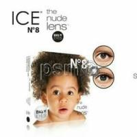 Softlens X2 N8 Black nude big eyes + cairan 60 ML