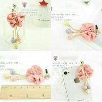 Korean Ribbon Candy Pluggy / Dustplug / Gantungan Handphone