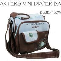 Tas Bayi Carters Mini Diaper Bag Blue Flower
