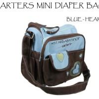 Tas Bayi Carters Mini Diaper Bag Blue Heart