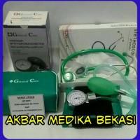 Sepasang Tensi Dan Stetoskop GC Premier Warna Hijau