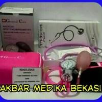 Sepasang Tensi Dan Stetoskop GC Premier Warna Pink