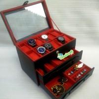 Tempat Jam isi 12 Kombinasi Tempat Kacamata dan Tempat Perhiasan Acc