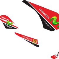 modif stiker yamaha byson movistar red
