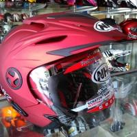harga New!!!  Helm Nhk Aviator Red Flat Tokopedia.com