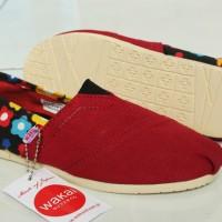 harga Sepatu Wakai Women Maron (main/sekolah/flat/slop/murah/sekolah) Tokopedia.com