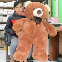 Jual Boneka Beruang Teddy Bear Pita Besar Jumbo Coklat Tua 120 cm (SNI) Murah