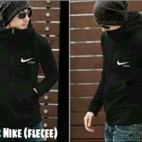 Jual Jaket nike black fleece / sweater korea hitam pria terbaru dan murah Murah