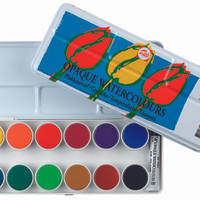 TALENS OPAQUE WATERCOLOURS SET 24
