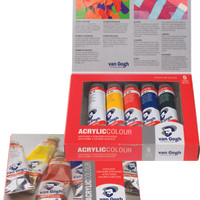 VAN GOGH ACRYLIC COLOUR 5 TUBES x 40 ML