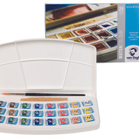VAN GOGH WATER COLOUR 24 PANS PAINTING BOX