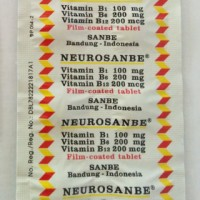 Neurosanbe tablet isi 10 vitamin b complex