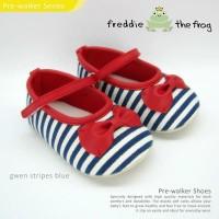 Freddie the Frog Prewalker Shoes - Gwen Stripes Blue   sepatu bayi