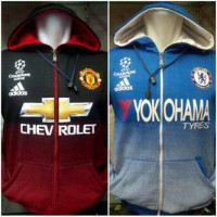 Hoodie Zipper Manchester United & Chelsea UCL