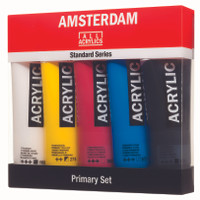 AMSTERDAM ACRYLIC STANARD SERIES PRIMARY SET 5 TUBES x 120 ML