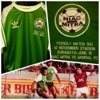 Jersey Niac Mitra Retro | Friendly Match vs Arsenal tahun 1983