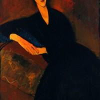 Replika Lukisan Anna Zborowska karya Amedeo Modigliani (1917)