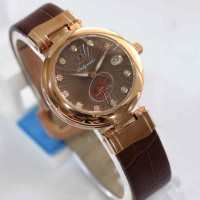 Omega Ladymatic Rosegold Brown Leather