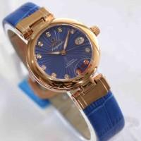 Omega Ladymatic Rosegold Blue Leather