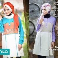 Harga model baju atasan muslim alnita tunik murah blus kerja kaos | Pembandingharga.com
