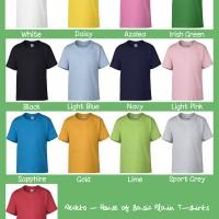 Kaos Polos Gildan Youth Premium 76000B Reguler Size