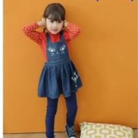 Setelan Anak Perempuan, Baju Cewe, Overall, Legging, Lengan Panjang