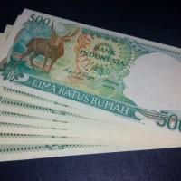 Jual Uang Lama / Uang Kuno Kertas 500 Kijang 1988 Murah