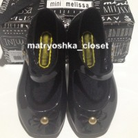 Sepatu Jelly Anak Mini Melissa Ballet Shoes Black Replica