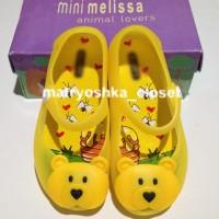 Jelly Shoes Mini Melissa Ultragirl Bear Transparent Yellow Replika