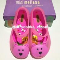 Jelly Shoes Mini Melissa Ultragirl Bear Transparent Pink Replika