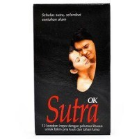 kondom sutra OK hitam isi 12 buah kontrasepsi KB kesehatan pria wanita