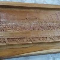harga relief last supper/perjamuan kudus kayu jati Tokopedia.com
