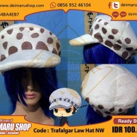 harga [trafalgar Law Hat Nw] Topi Anime Manga One Piece Tokopedia.com