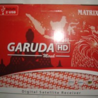 Receiver Parabola Matrix Garuda HD PVR MPEG4 Putih (Prepaid) Free Vouc