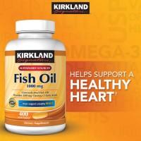 Kirkland Signature Omega-3 Fish Oil Concentrate 1000mg - 400 Softgels