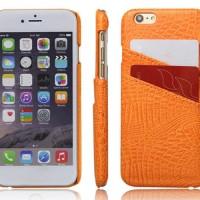 Stylish Protection Leather Back Cover Case untuk Samsung Note 5-Orange