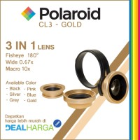 Lensa Kamera HP Polaroid CL3 - 3 Lensa Wide Fisheye Macro - Gold