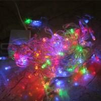 lampu natal 100 led warna warni